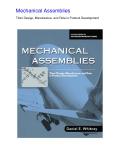 [Psychology] Mechanical Assemblies Phần  1