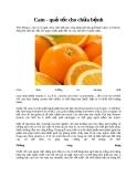 Cam - quả tốt cho chữa bệnh