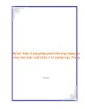 Đề tài: Một số biện pháp nhằm đẩy mạnh công tác tiêu thụ sản phẩm ở xí nghiệp 22