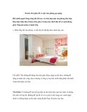 8 bước đơn giản để có một căn phòng gọn gàng