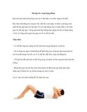 Bài tập cho vòng bụng phẳng