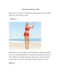 Thoải mái tập thể dục trên bãi biển