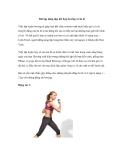 Bài tập dáng đẹp kết hợp boxing với ba lê