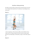Tập thể dục với không gian nhỏ hẹp