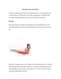 Bài tập đơn giản cho đôi chân