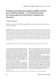 "Báo cáo lâm nghiệp: ""Production potential and ecological stability of mixed forest stands in uplands – VI. A beech/larch stand on a mesotrophic site of the Křtiny Training Forest Enterprise"""