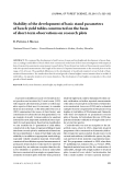 """Báo cáo lâm nghiệp: """"Stability of the development of basic stand parameters of beech yield tables constructed on the basis of short-term observations on research plots"""""""