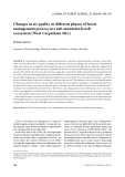 """Báo cáo lâm nghiệp: """"Changes in air quality in different phases of forest management process in a sub-mountain beech ecosystem (West Carpathian Mts.)"""""""
