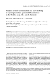 """Báo cáo lâm nghiệp: """"Analysis of snow accumulation and snow melting in a young mountain spruce and beech stand in the Orlické hory Mts., Czech Republic"""""""