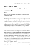 """Báo cáo lâm nghiệp: """"Development of tertiary roads in the Lednice-Valtice Cultural Landscape"""""""