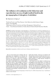 """Báo cáo lâm nghiệp: """"The influence of irradiation on the behaviour and reproduction success of eight toothed bark beetle Ips typographus (Coleoptera: Scolytidae)"""""""