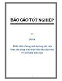 Đề tài : Phân tích những ảnh hưởng tới việc thực thi pháp luật thuế tiêu thụ đặc biệt ở Việt Nam hiện nay