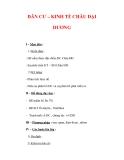 Giáo án Địa Lý 7 : Tên bài dạy : DÂN CƯ – KINH TẾ CHÂU ĐẠI DƯƠNG