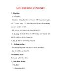 Giáo án Địa Lý 7 : Tên bài dạy : MÔI TRƯỜNG VÙNG NÚI