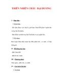Giáo án Địa Lý 7 : Tên bài dạy : THIÊN NHIÊN CHÂU ĐẠI DƯƠNG