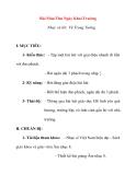 Giáo án Âm Nhạc lớp 8: Bài Mùa Thu Ngày Khai Trường