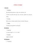 Giáo án Vật Lý lớp 8: CÔNG CƠ HỌC
