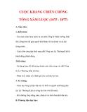 Giáo án Lịch sử lớp 7 : Tên bài dạy : CUỘC KHÁNG CHIẾN CHỐNG TỐNG XÂM LƯỢC (1075 - 1077)