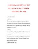Giáo án Lịch sử lớp 7 : Tên bài dạy : CUỘC KHÁNG CHIẾN LẦN THỨ BA CHỐNG QUÂN XÂM LƯỢC NGUYÊN (1287 - 1288)