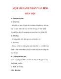 Giáo án Lịch sử lớp 7 : Tên bài dạy : MỘT SỐ DANH NHÂN VĂN HÓA DÂN TỘC
