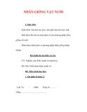 Giáo án Công nghệ lớp 7 : Tên bài dạy : NHÂN GIỐNG VẬT NUÔI