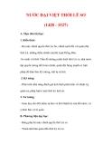 Giáo án Lịch sử lớp 7 : Tên bài dạy : NƯỚC ĐẠI VIỆT THỜI LÊ SƠ (1428 - 1527)