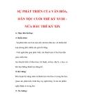 Giáo án Lịch sử lớp 7 : Tên bài dạy : SỰ PHÁT TRIỂN CỦA VĂN HÓA, DÂN TỘC CUỐI THẾ KỶ XVIII NỬA ĐẦU THẾ KỶ XIX
