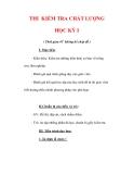 Giáo án Công nghệ lớp 7 : Tên bài dạy : THI KIỂM TRA CHẤT LƯỢNG HỌC KỲ I