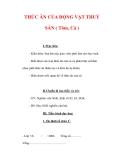 Giáo án Công nghệ lớp 7 : Tên bài dạy : THỨC ĂN CỦA ĐỘNG VẬT THUỶ SẢN ( Tôm, Cá )