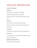 Giáo án Lịch sử lớp 7 : Tên bài dạy : TRUNG QUỐC THỜI PHONG KIẾN