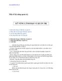 PHÁT TRIỂN KỸ NĂNG LÃNH ĐẠO TRONG CÔNG TÁC QUẢN TRỊ - 1