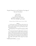 """Báo cáo toán học: """"Stapled Sequences and Stapling Coverings of Natural Numbers"""""""