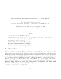 "Báo cáo toán học: "" Line-transitive Automorphism Groups of Linear Spaces1"""