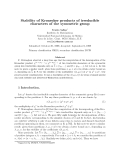 "Báo cáo toán học: ""Stability of Kronecker products of irreducible characters of the symmetric group"""