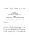 "Báo cáo toán học: ""Low Rank Co-Diagonal Matrices and Ramsey Graphs"""