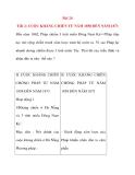 Giáo án Lịch Sử lớp 8: Bài 24 CUỘC KHÁNG CHIẾN TỪ NĂM 1858 ĐẾN NĂM 1873