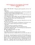 Giáo án Lịch Sử lớp 8: BÀI 28: TRÀO LƯU CẢI CÁCH DUY TÂN Ở VIỆT NAM NỬA CUỐI THẾ KỶ XIX.