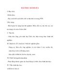 Giáo án Hóa Hoc 8: BÀI THỰC HÀNH SỐ 4
