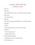 Giáo án Hóa Học lớp 8: SỰ OXI HÓA – PHẢN ỨNG HÓA HỢP ỨNG DỤNG CỦA OXI (tiết 1)