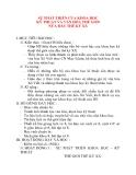Giáo án Lịch Sử lớp 8: SỰ PHÁT TRIỂN CỦA KHOA HỌC KỸ THUẬT VÀ VĂN HÓA THẾ GIỚI NỬA ĐẦU THẾ KỶ XX