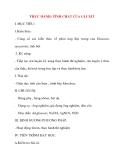 Giáo án Hóa Học lớp 8: THỰC HÀNH: TÍNH CHẤT CỦA GLUXIT