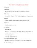 Giáo án Hóa Học lớp 8: TÍNH CHẤT VÀ ỨNG DỤNG CỦA HIDRO