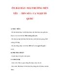 Giáo án Âm nhạc lớp 7 : Tên bài dạy : ÔN BÀI HÁT: MÁI TRƯỜNG MẾN YÊU - TĐN SỐ 1: CA NGỢI TỔ QUỐC