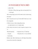 Giáo án Vật lý lớp 7 : Tên bài dạy : AN TOÀN KHI SỬ DỤNG ĐIỆN
