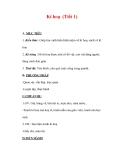 Giáo án Mỹ thuật lớp 7 : Tên bài dạy : Kí hoạ (Tiết 1)