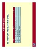 Excel Bài Giảng toàn tập V
