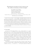 "Báo cáo toán học: ""Maximising the permanent of (0,1)-matrices and the number of extensions of Latin rectangles"""