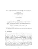 "Báo cáo toán học: ""New symmetric designs from regular Hadamard matrices"""