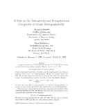 """Báo cáo toán học: """" A Note on the Asymptotics and Computational Complexity of Graph Distinguishability"""""""