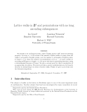 """Báo cáo toán học: """"Lattice walks in Zd and permutations with no long ascending subsequences"""""""